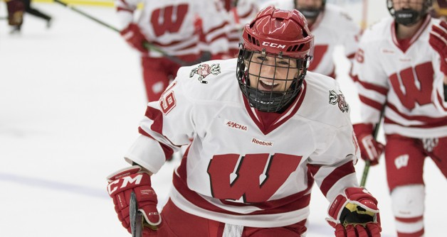Wisconsin Badgers XXXX during an NCAA women's hockey game against the Minnesota Golden Gophers Saturday, December 5, 2015, in Madison, Wis. (Photo by David Stluka)