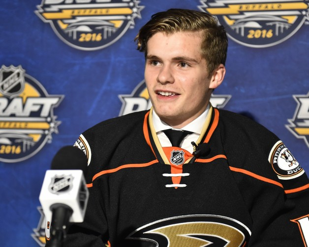 Sam Steel of the Regina Pats was selected by the Anaheim Ducks in the first round of the 2016 NHL Entry Draft in Buffalo, NY on Friday June 24, 2016. Photo by Aaron Bell/CHL Images