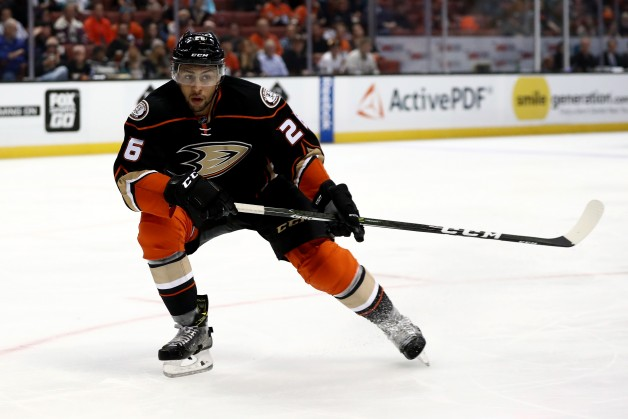 ANAHEIM, CA - OCTOBER 26:  Emerson Etem #26 of the Anaheim Ducks skates during the third period of a game against the Nashville Predators at Honda Center on October 26, 2016 in Anaheim, California.  (Photo by Sean M. Haffey/Getty Images)