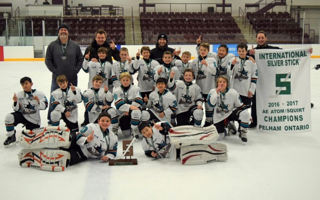 Jr. Sharks silver stick 1