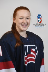 ZLIN, CZECH REPUBLIC - JANUARY 6: USA's Dominique Petrie #11 - 2017 IIHF Ice Hockey U18 Women's World Championship. (Photo by Andrea Cardin/HHOF-IIHF Images)