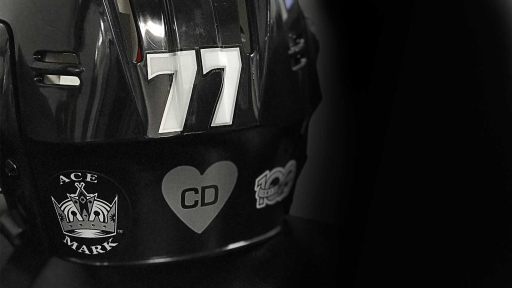 Christiana Duarte Memorial Sticker LA Kings Opening Night